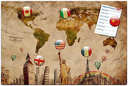 World map magnetic metal memo board 60x40 cm memo board with world map magnetic metal memo board 60x40 cm memo board with motif world gumiabroncs Image collections