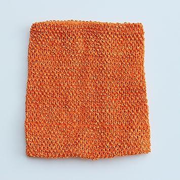 Amazoncom Orange Crochet Tutu Top Lined 12 Inches X 10 Inches