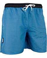GUGGEN Men's swimming trunks out of High-Tec Material swim shorts bathing drawers bathers slip checked *Blue Purple*