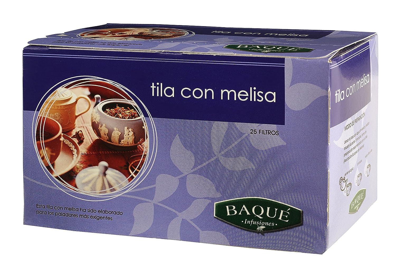 Cafés Baqué Té de Tila y Melisa - 25 Bolsitas: Amazon.es: Alimentación y bebidas