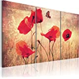 Quadro 120x80 cm - 3 Parti - Quadro su tela fliselina - Stampa in qualita fotografica - fiori 030110-4 120x80 cm B&D XXL