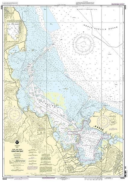 19359 Oahu Kaneohe Bay Fishing Charts And Maps Amazon