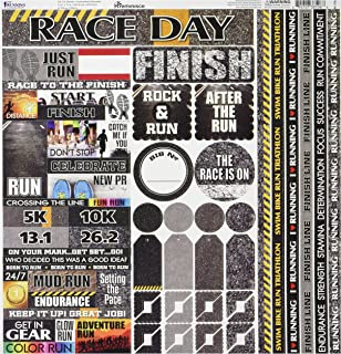 Reminisce TRUC-100 Running Cardstock Sticker, 12