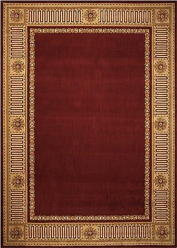 Nourison Vallencierre VA17 Area Rug Red 9 9 x 13 9 10 x 14 Gold Rectangle