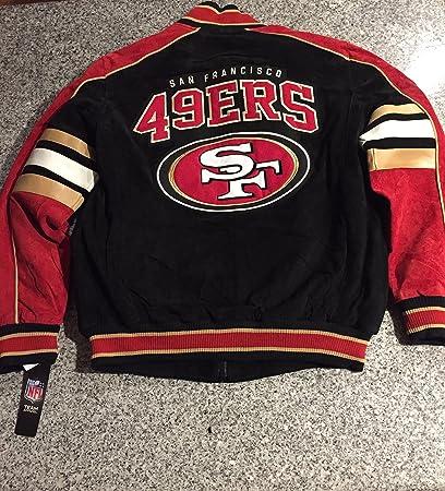 San Francisco 49ers Ante chamarra de piel Niners chamarra NFL Prendas de  vestir 4a24fdb57fb