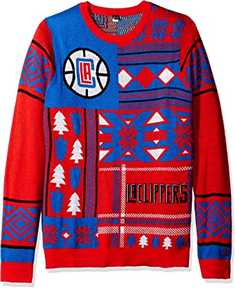 New York Knicks Patches Ugly Crew Neck Sweater Double Extra Large