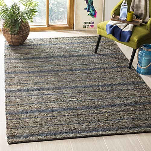 Safavieh Organica Collection ORG115A Hand-Knotted Blue Wool Area Rug 9 x 12