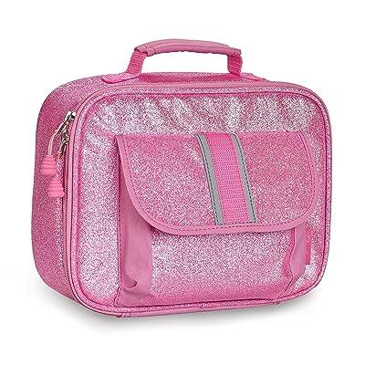 Bixbee Sparkalicious Glitter Lunch Box, Pink