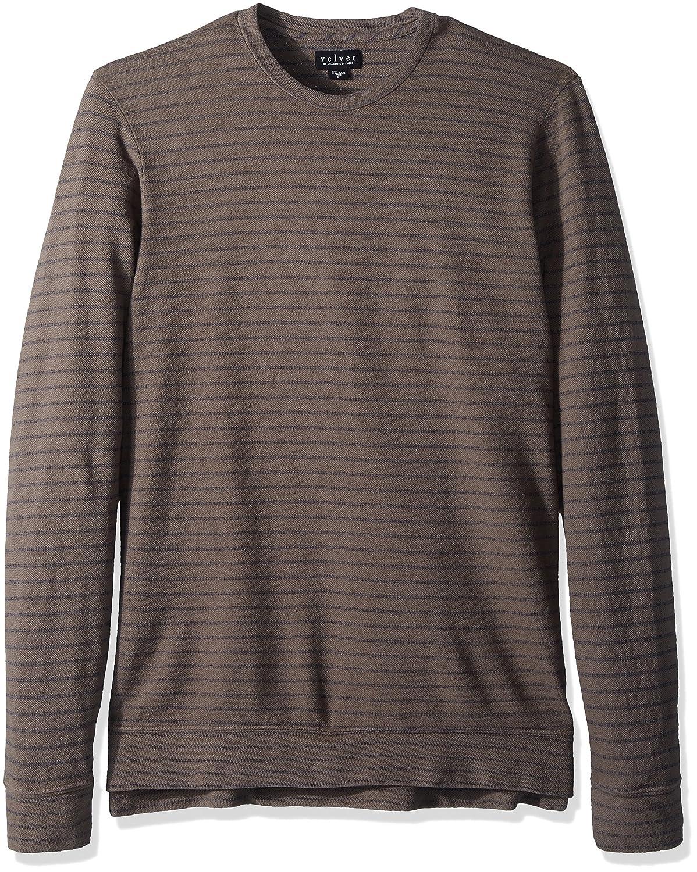 Velvet by Graham /& Spencer Velvet Mens Argo Long Striped Terry Shirt