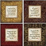 Thirstystone Stoneware Coaster Set, Dog Wisdom