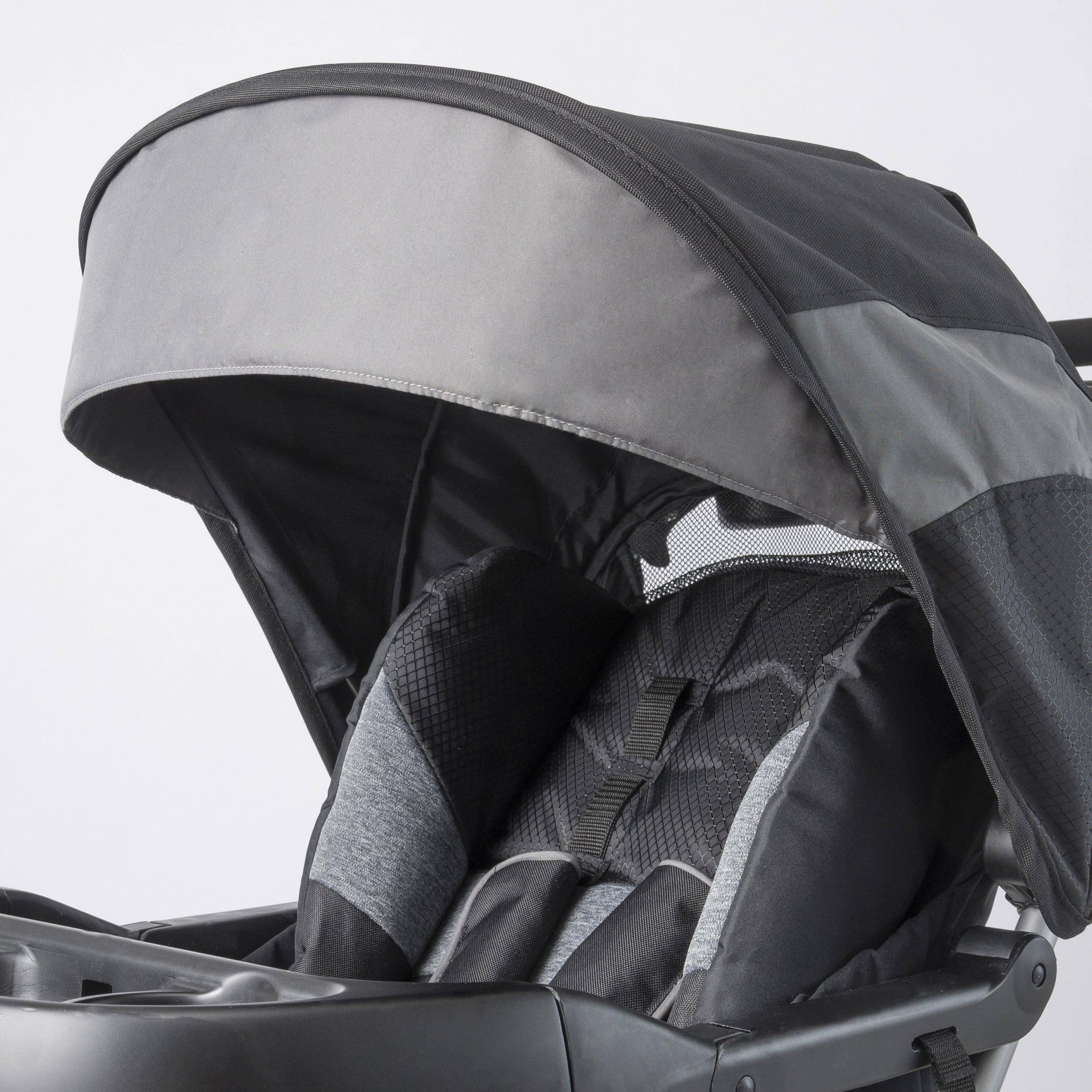 Evenflo Advanced SensorSafe Epic Travel System with LiteMax Infant Car Seat, Jet by Evenflo (Image #8)