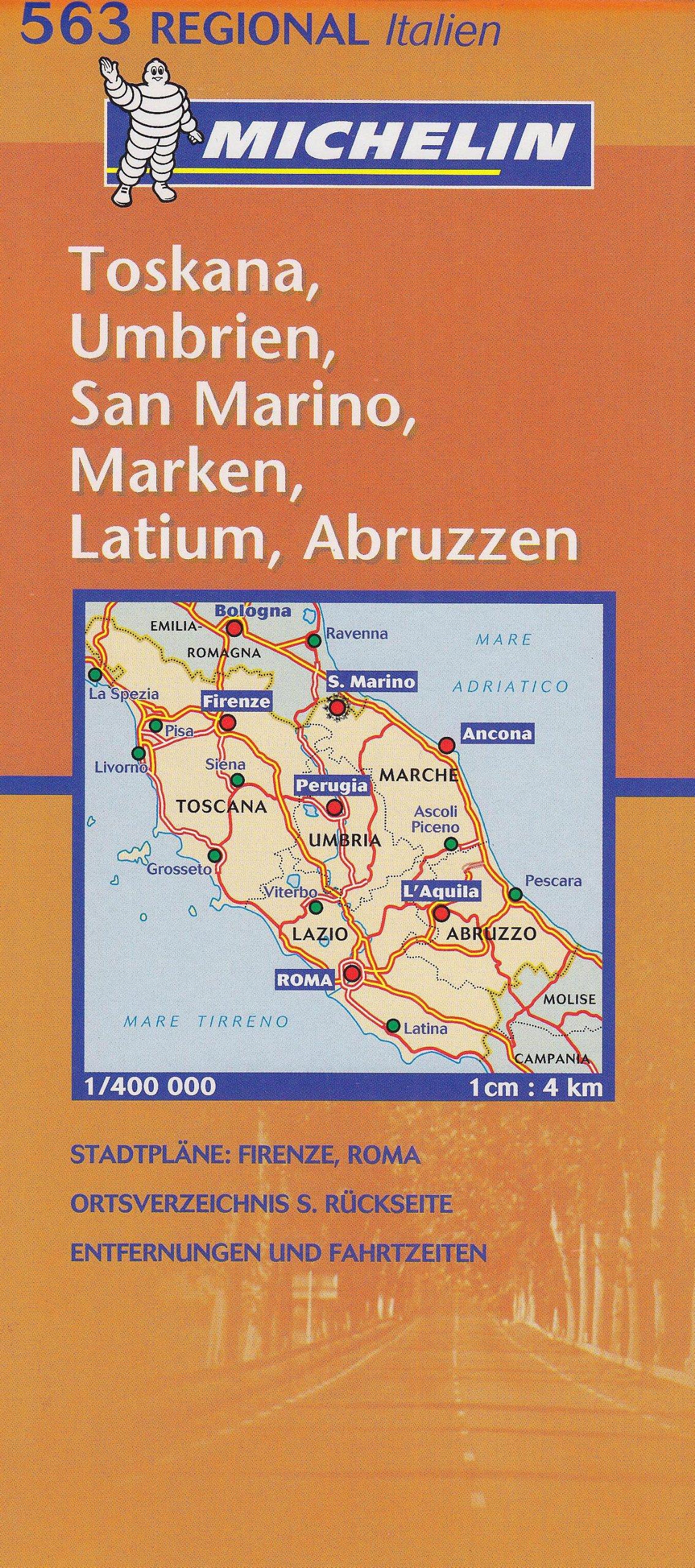Regionalkarte Toskana, Umbrien (MICHELIN Regionalkarten, Band 563)