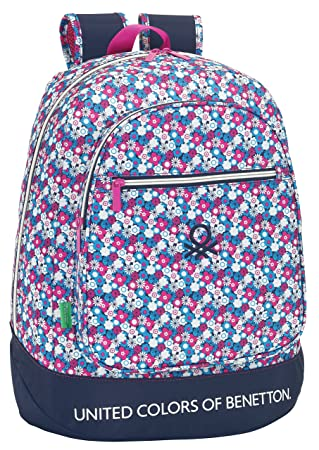 SAFTA United Colors Of Benetton Mochila Escolar, 46 cm: Amazon.es: Equipaje