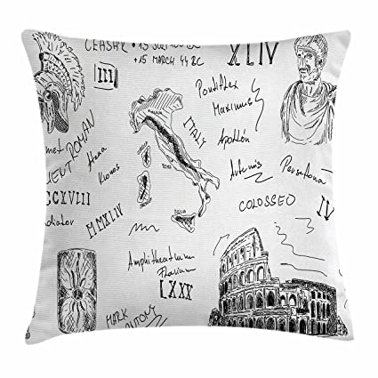 Amazon.com: Ambesonne Toga Party Throw Pillow Cushion Cover ...