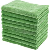 AmazonBasics Ultra-Thick Microfiber Cleaning Cloths, 10-Pack