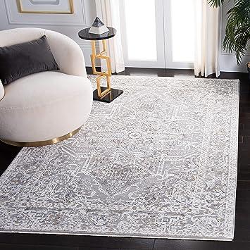 Amazon Com Safavieh Martha Stewart Collection Msr8934b Viscose Area Rug 8 X 10 Ivory Light Grey Furniture Decor