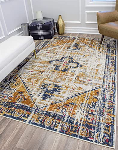 CosmoLiving Labyrinth Collection Area Rug 5 1 x 7 Burnt Sienna