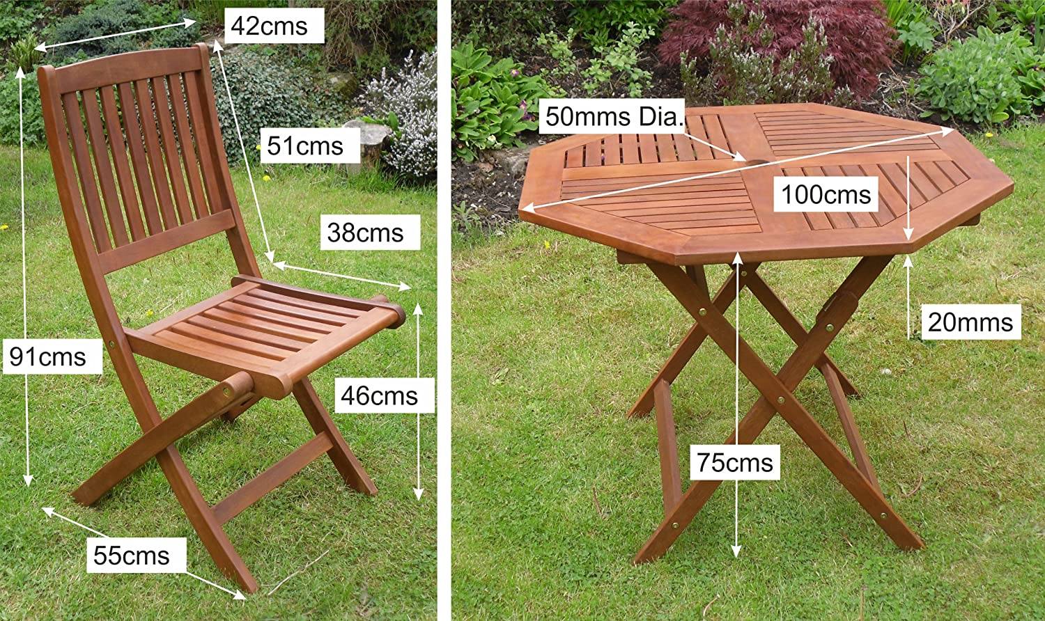 hardwood garden furniture for sale. canterbury hardwood garden furniture 4 seat folding patio set table \u0026 four chairs ideal for outdoor living and dining: amazon.co.uk: outdoors sale