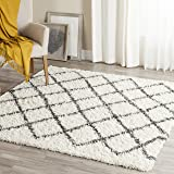 Safavieh Dallas Shag Collection SGD258H Ivory and