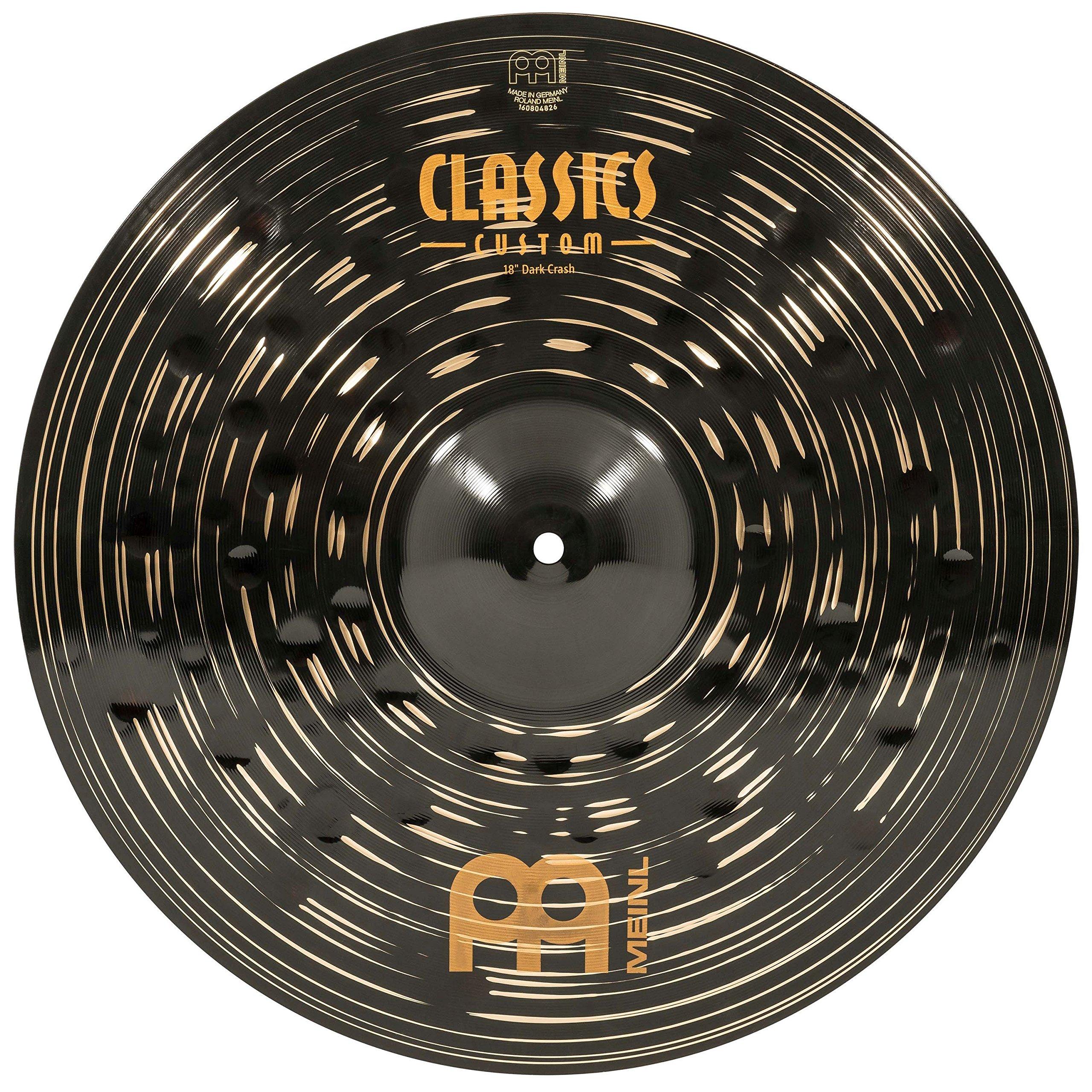 Meinl 18'' Crash Cymbal - Classics Custom Dark - Made in Germany, 2-YEAR WARRANTY (CC18DAC) by Meinl Cymbals
