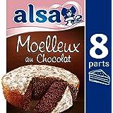 Alsa Préparation pour Gâteau Moelleux Chocolat 435 g - Lot de 3