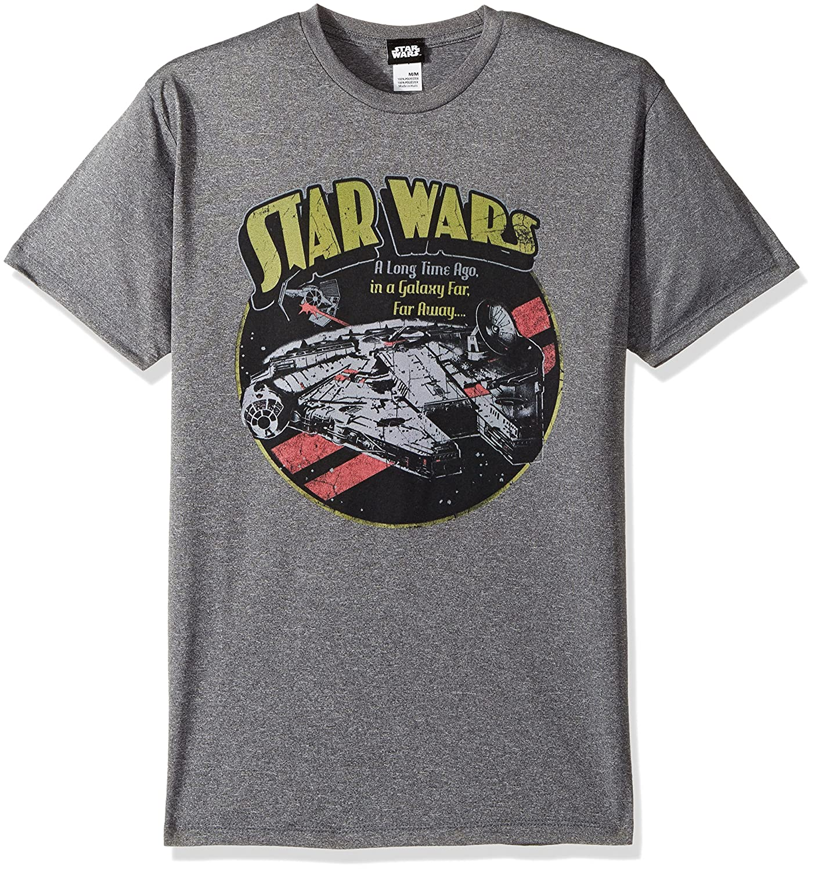 853485fe Star Wars Men's Official 'Falcon' Premium Performance Graphic Tee |  Amazon.com