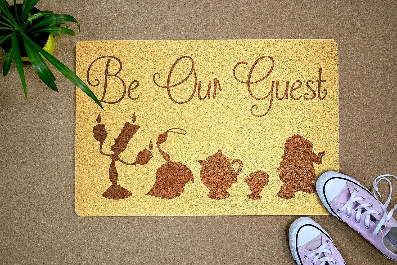 Regalo de cumplea/ños con dise/ño de m/úsica de Disney Regalo de casa Nueva para decoraci/ón del hogar StarlingShop Felpudo de dise/ño de la Bella y la Bestia de Disney