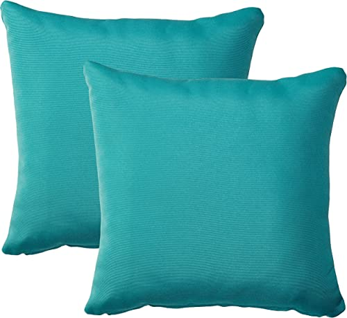 TK Classics PILLOW-ARUBA-S-2x Outdoor Square Throw Pillow, Set of 2, Aruba