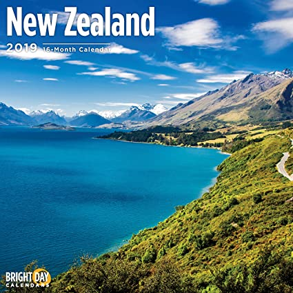 new zealand 2019 16 month wall calendar 12 x 12 inches