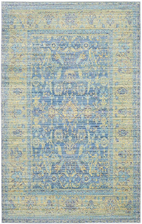Safavieh Beaufort gewebter Teppich, VAL123M, Blau   Mehrfarbig, 121 X 182  cm