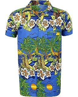 a76d459ce46a8 para Hombre Hawaiano Camisa Playa de Ciervo Hawaii Aloha Fiesta Vacaciones  de Verano – S a