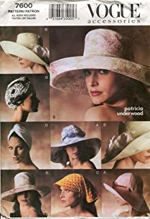 Vogue Patterns V7600 Sun Hats Package