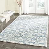 Safavieh Chatham Collection CHT765C Handmade Dark Blue and Ivory Premium Wool Area Rug (2' x 3')