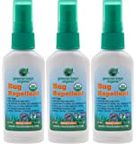 GREENERWAYS ORGANIC Insect Repellent Travel Size, Premium, USDA Organic, DEET-FREE, Natural, Mini Repellent Spray, Travel Size Repellent, Mosquito-Repellant, Bug Spray 3-PACK - (3) 2oz - MSRP $23.97