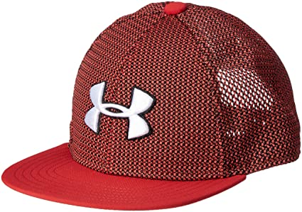 black and red under armour hat