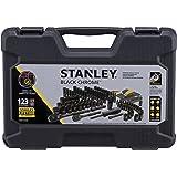 Stanley STMT72254W 123pc Black Chrome Universal Mechanic's Tool Set