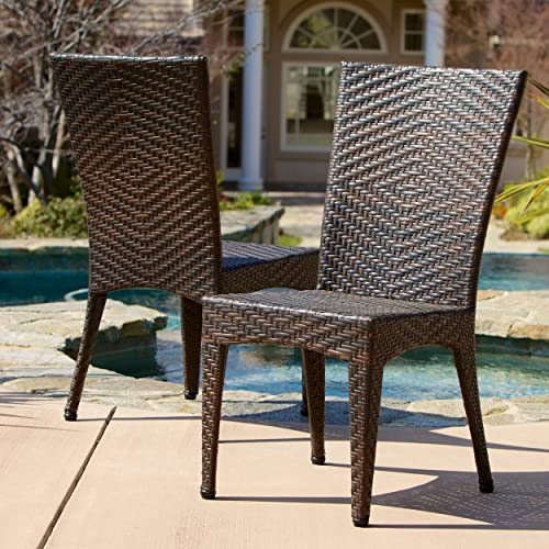 Christopher Knight Home 232459 Solana Outdoor Brown Wicker Chairs Set of 2