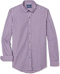 BUTTONED DOWN Men's Tailored Fit Supima Cotton Dress Casual Shirt