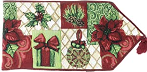 Tache Home Fashion DB12900-1390 Tache Christmas Decorative Tapestry Holiday Tidings Table Runners, 13 x 90