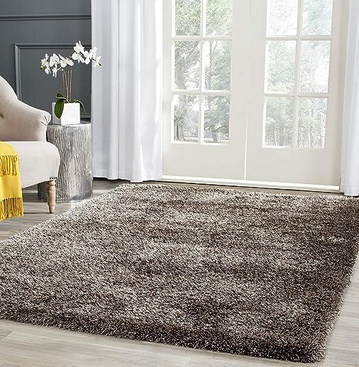 Amazon Com Safavieh Charlotte Shag Collection Sgc720b 2 Inch Thick Area Rug 8 X 10 Brown Furniture Decor