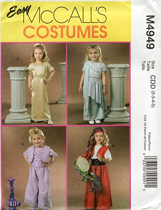 McCall s 4949 niño disfraz de princesa gitana, Genie, Cleopatra ...