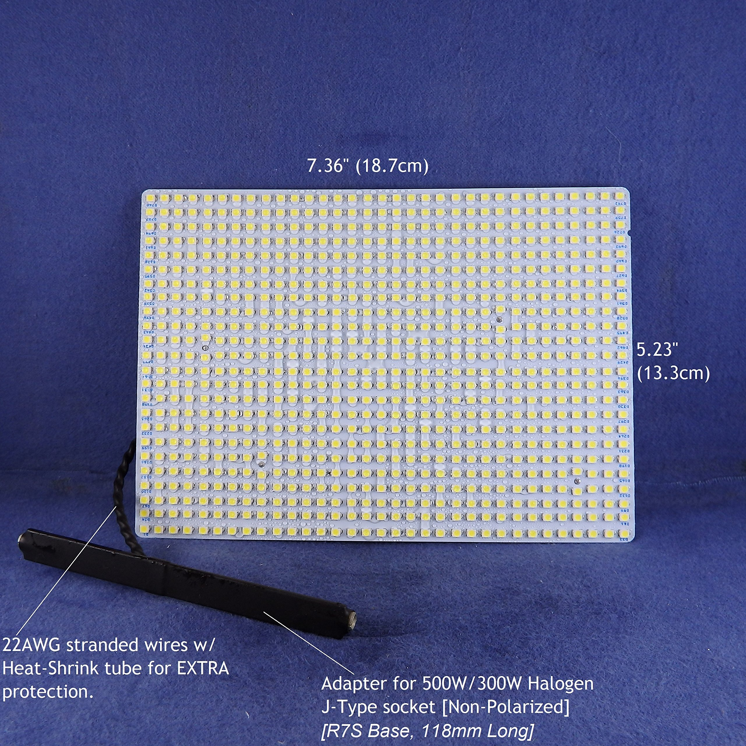 LED Panel for RETROFIT 300W/500W FLOOD LIGHT Halogen light fixtures -- 7000Lumens 33Watts -- WARM WHITE (4000K). P/N: SPTL792LRC-4K by SOLARA-USA