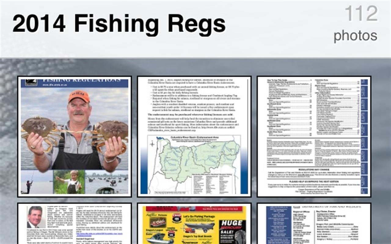 Oregon fishing regulations amazon appstore for Oregon fishing season