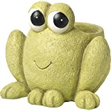Garden Gifts by Precious Moments 171456 Hop To It Frog Resin Deck And Garden Planter Yard Decor, 6-inch Diameter by 9.25-inch High