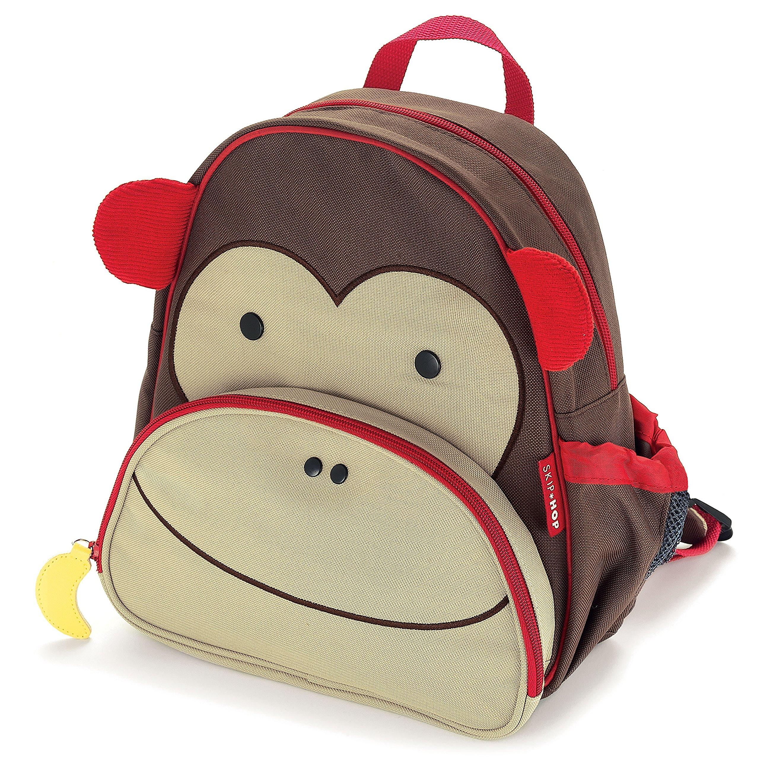 Zoo Toddler Backpack Marshall Monkey, 12'' School Bag, by Skip Hop (Image #2)