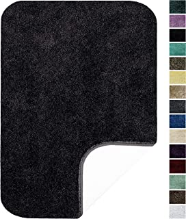 "product image for Maples Rugs ColorSoft Non Slip Washable & Quick Dry Soft Bathroom Rugs [Made in USA], 17"" x 24"", Rich Black"