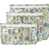 Bumkins Clear Travel Bag 3 Pack, Cacti