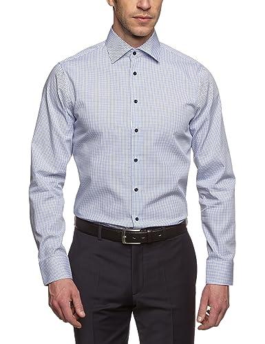 Seidensticker Herren Businesshemd Tailored Langarm mit Kent-Kragen bügelfrei