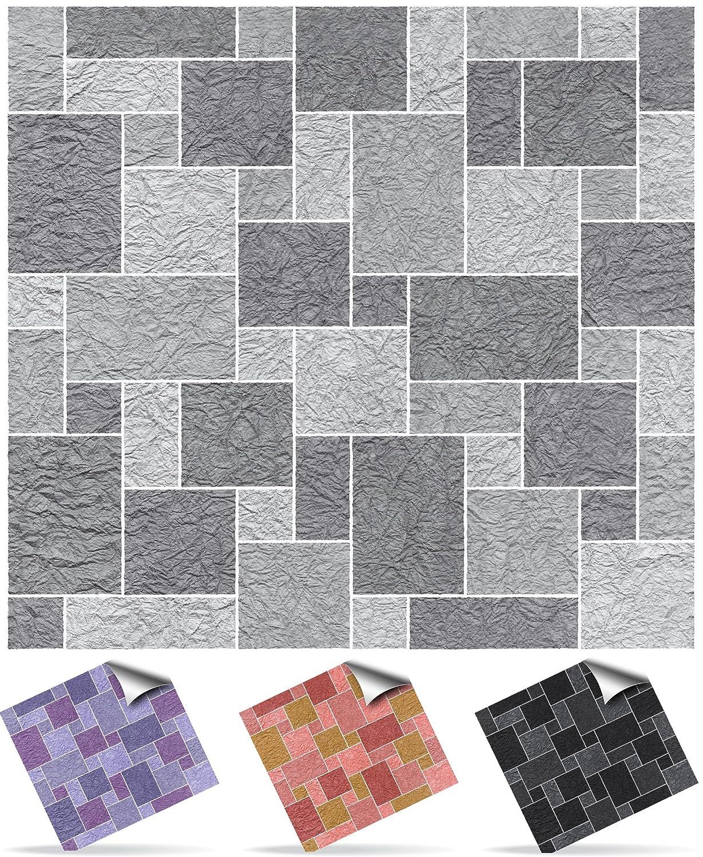Amazon.de: 30 Selbstklebende Mosaik Wand Fliesen Aufkleber Transfers Für  15, 2 X 15, 2 Cm Fliesen