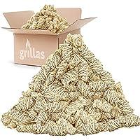 grillas bio-haard aanmaakblokjes 3 kg van houtvezel, gedrenkt in was | kolenstarter | barbecue aanmaakblokjes | was…
